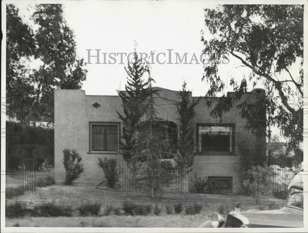 1934 Press Photo Exterior View Of Home Where Gottle Was Found - Historic Images