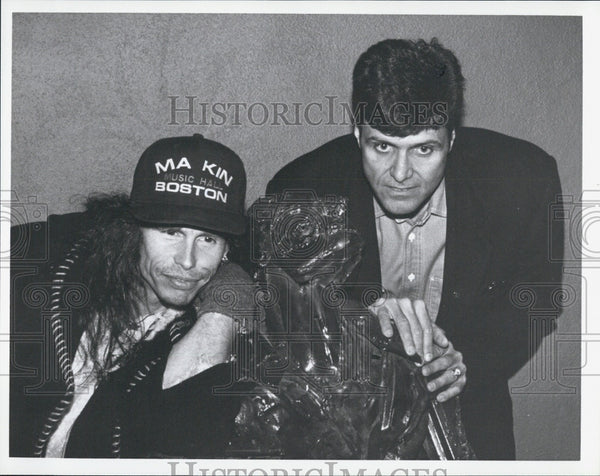 Press Photo Steven Tyler & Pat Lyons - Historic Images