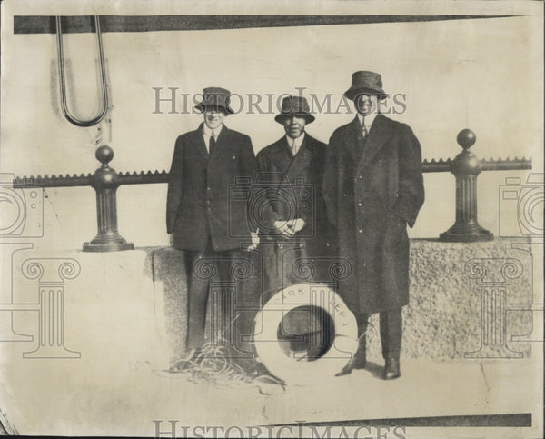 1912 Press Photo Richard Cardinal Cushing, Judge Daniel W. Casey, and Maurice F. - Historic Images