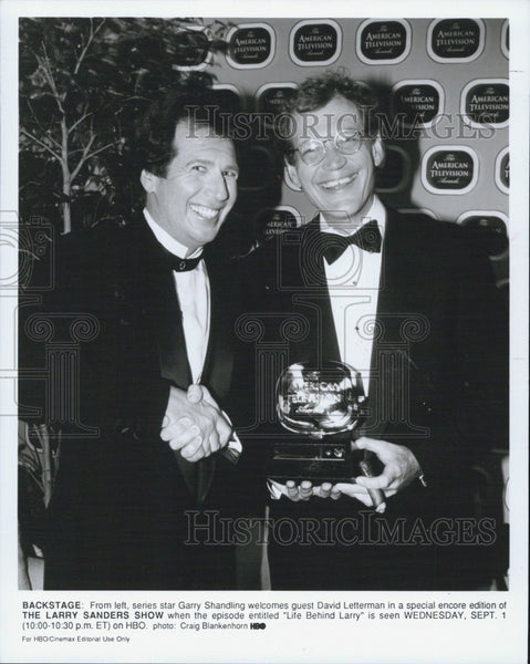 "Press Photo  David Letterman of ""The Larry Sanders Show"" - Historic Images"