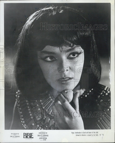 "Press Photo Actress, Zoe Sallis in ""The Bible"" - Historic Images"