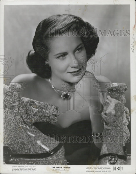 "1950 Press Photo Actress, Alida Valli in ""The White Tower"" - Historic Images"