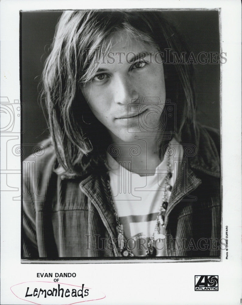 1992 Press Photo Evan Dando Of Lemonheads Band Portrait COPY - Historic Images