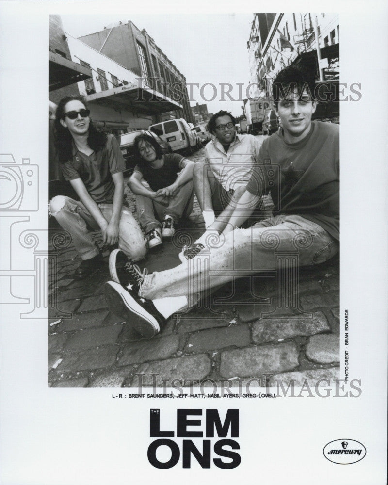 Press Photo Rock Band The Lemons Brent Saunders Jeff Hiatt Nabil Ayers - Historic Images