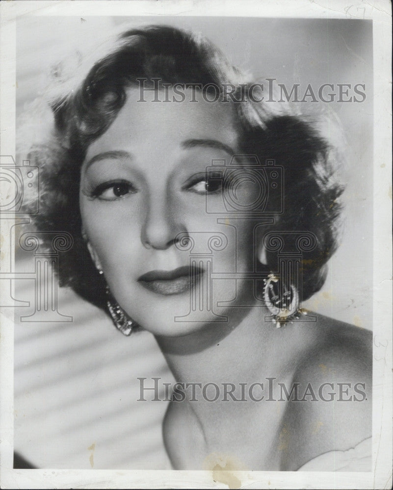 1950 Press Photo Gertrude Lawrence Stars In Call It A Day Theatre Guild On Air - Historic Images