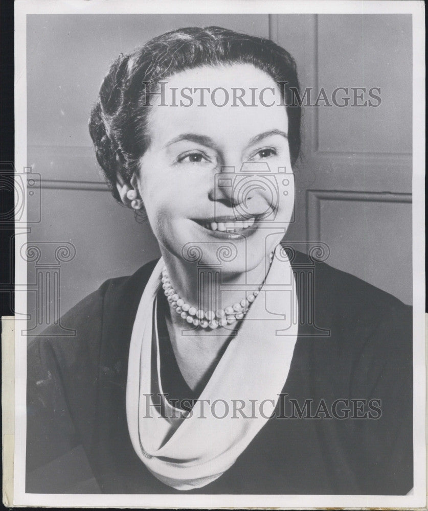 1954 Press Photo US Secretary of Health Mrs Oveta Culp Hobby - Historic Images