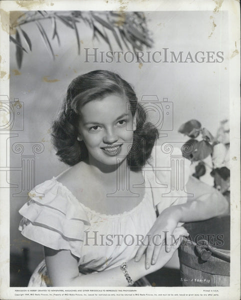 1949 Press Photo Joan Evans, American Actress. - Historic Images