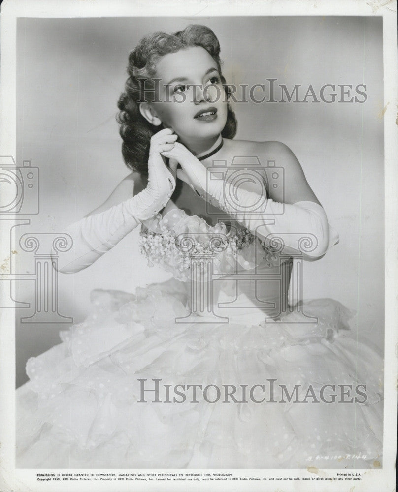 1950 Press Photo Joan Evans, American actress. - Historic Images
