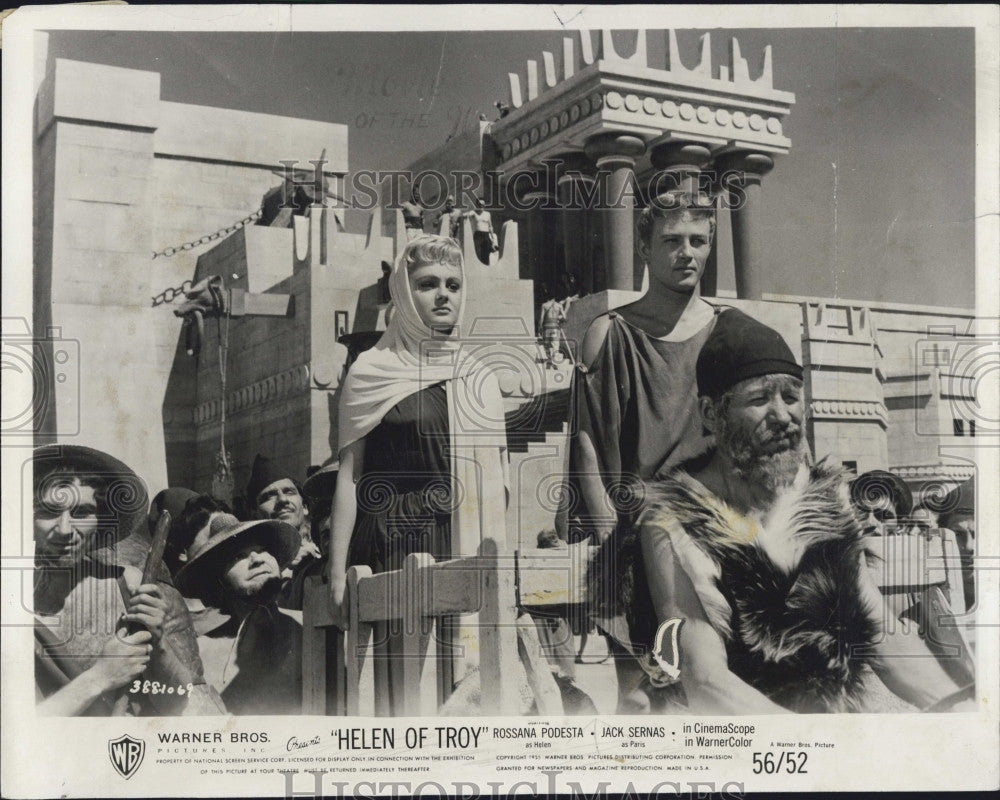 "1956 Press Photo Italian Actress Rossana Podesta  in ""Helen of Troy"" - Historic Images"