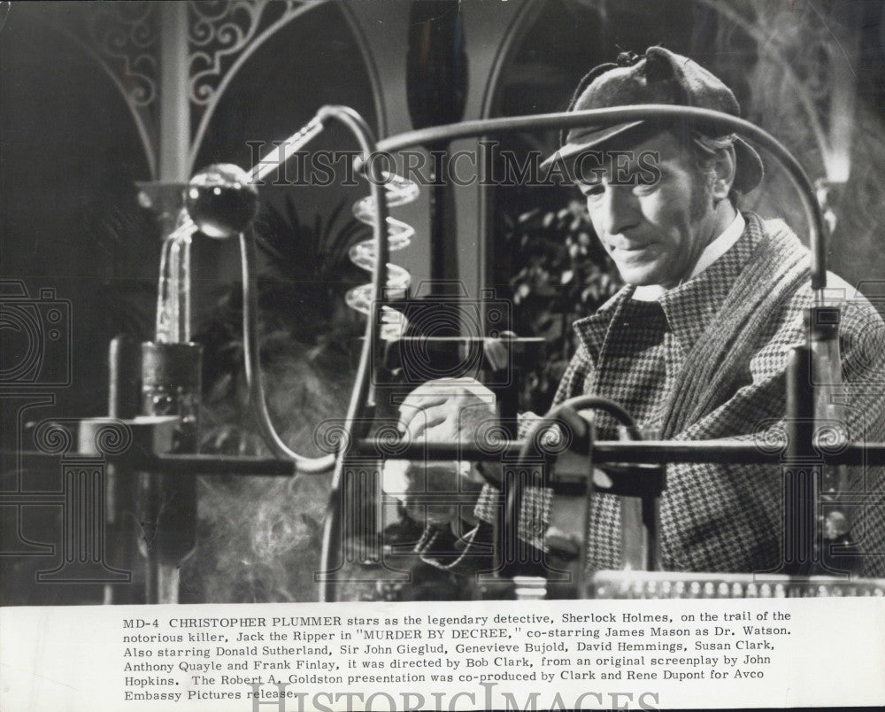 1979 Press Photo Christopher Plummer Plays Sherlock Holmes In Murder By Decree - Historic Images