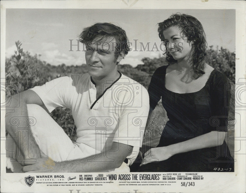 "1958 Press Photo Christopher Plummer & Chana Eden ""Wind Across the Everglades"" - Historic Images"