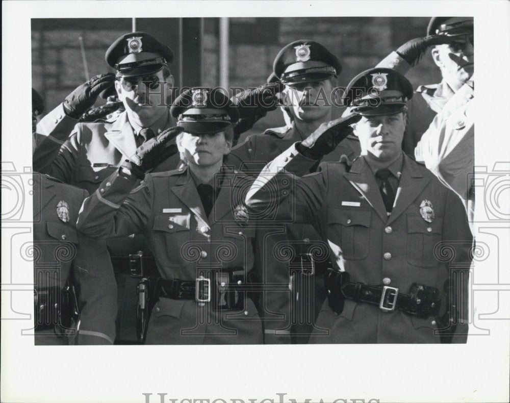 1989 Press Photo N.H. State Police officer's funeral - Historic Images