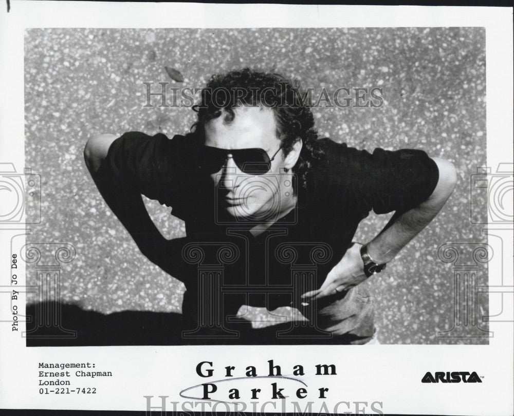 Press Photo Singer Songwriter Graham Parker - Historic Images