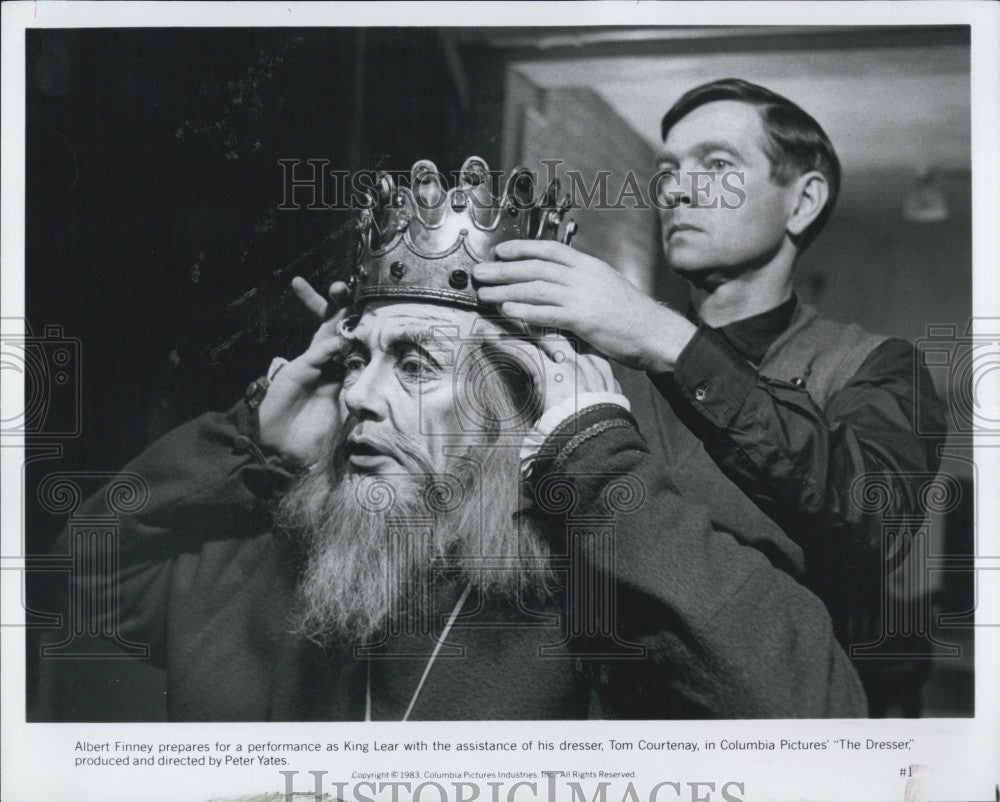 "1983 Press Photo Actor Albert Finney in ""The Dresser"" - Historic Images"