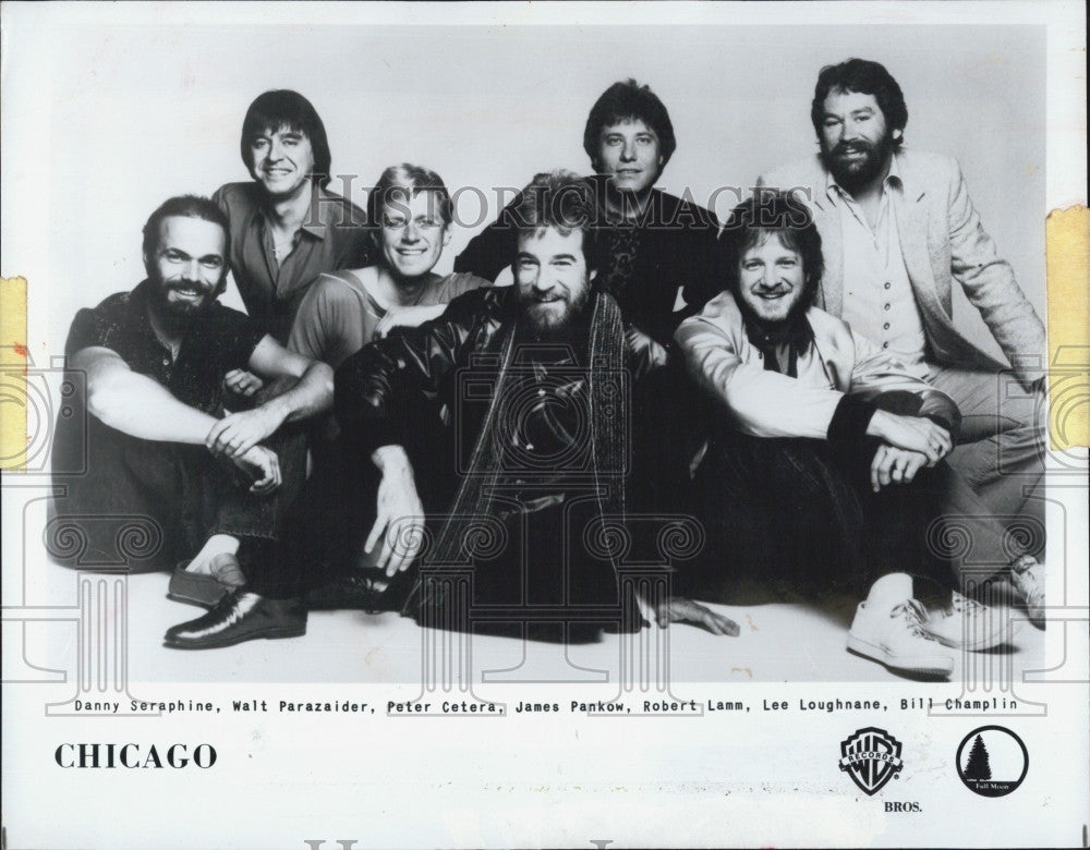1983 Press Photo Musical Group Chicago Danny  Seraphine Walt Parazaider - Historic Images