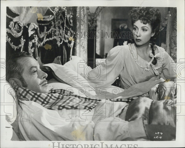 1950 Press Photo Actress Danielle Darrieux Fernand Gravey Movie La Ronde - Historic Images