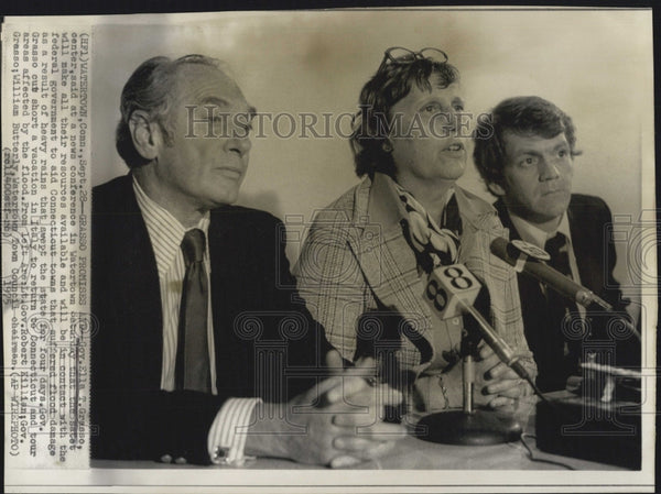 1975 Press Photo Gov Ella Grasso Said At News Conf That Gvt Will help Flood Area - Historic Images