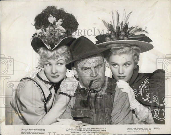 1948 Press Photo Veronica Lake/Joan Caulfield/Barry Fitzgerald-The Sainted Sistr - Historic Images