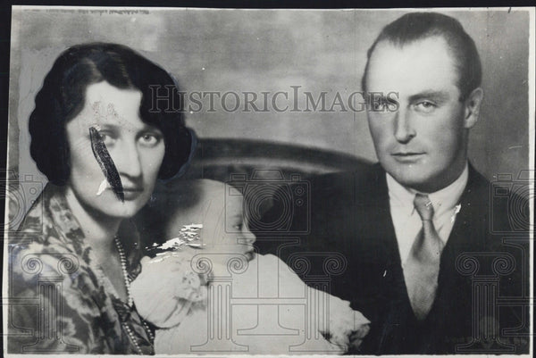 1930 Press Photo Crown Prince Olav and Princess Martha with Princess Ragnhild. - Historic Images