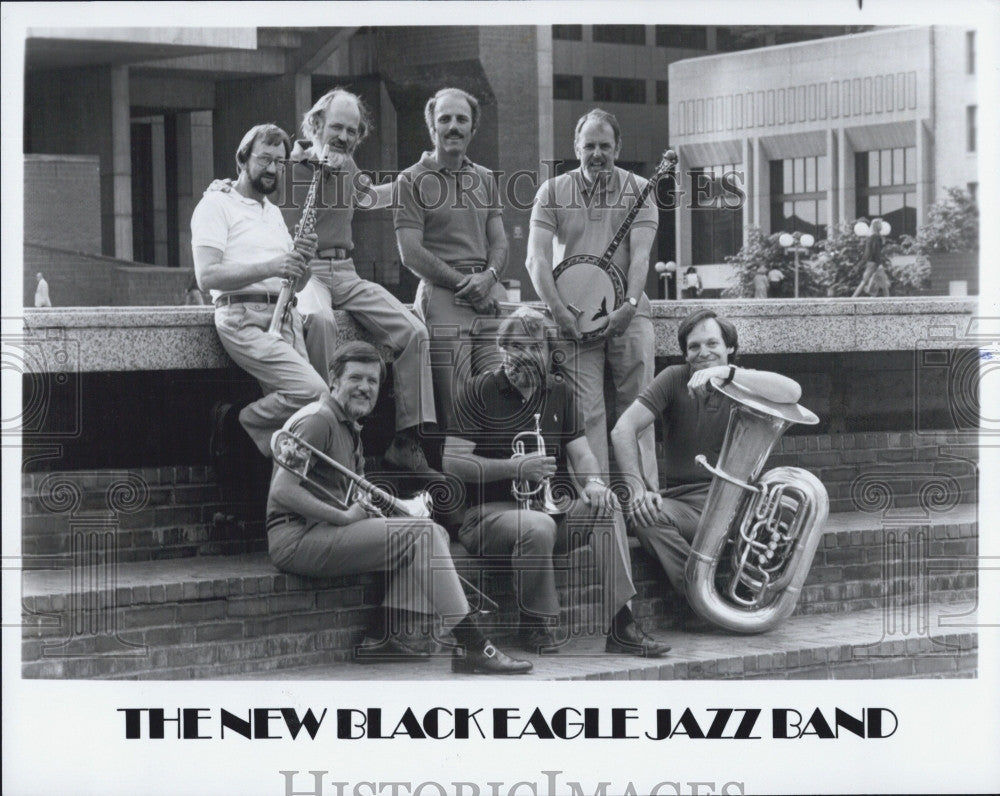 Press Photo The New Black Eagle Jazz Band Musician Group - Historic Images