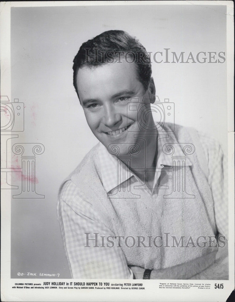"1956 Press Photo Jack Lemmon In ""It Should Happen To You"" COPY - Historic Images"