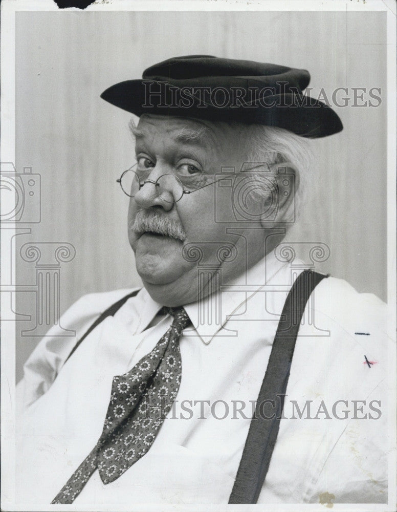1968 Press Photo Actor and Comedian Cliff Arquette - Historic Images