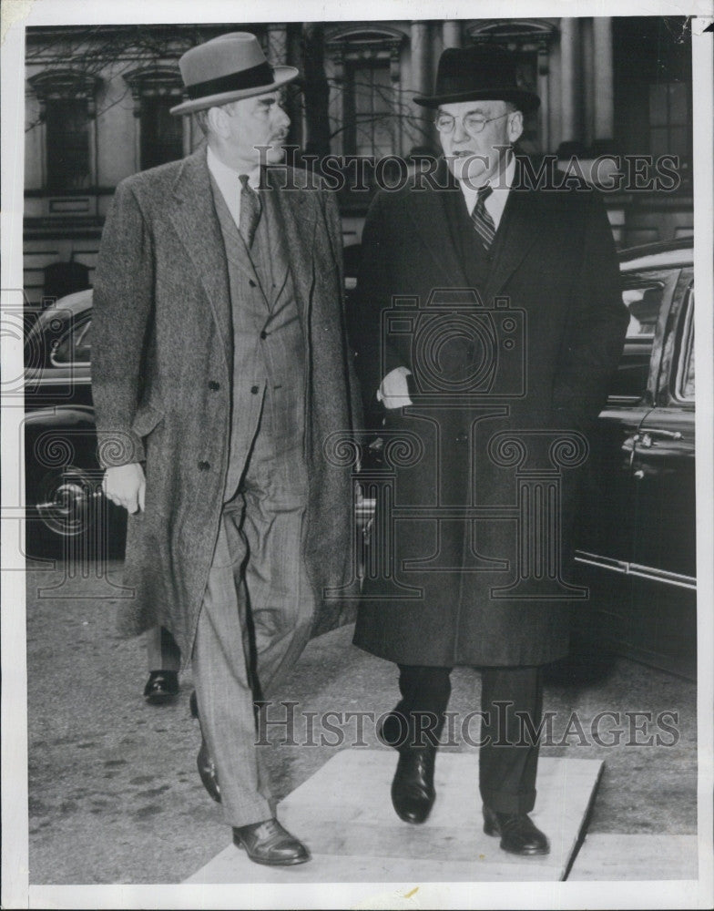 1951 Press Photo US State. Sec. Dean Acheson & John Foster Dulles For. Affairs - Historic Images