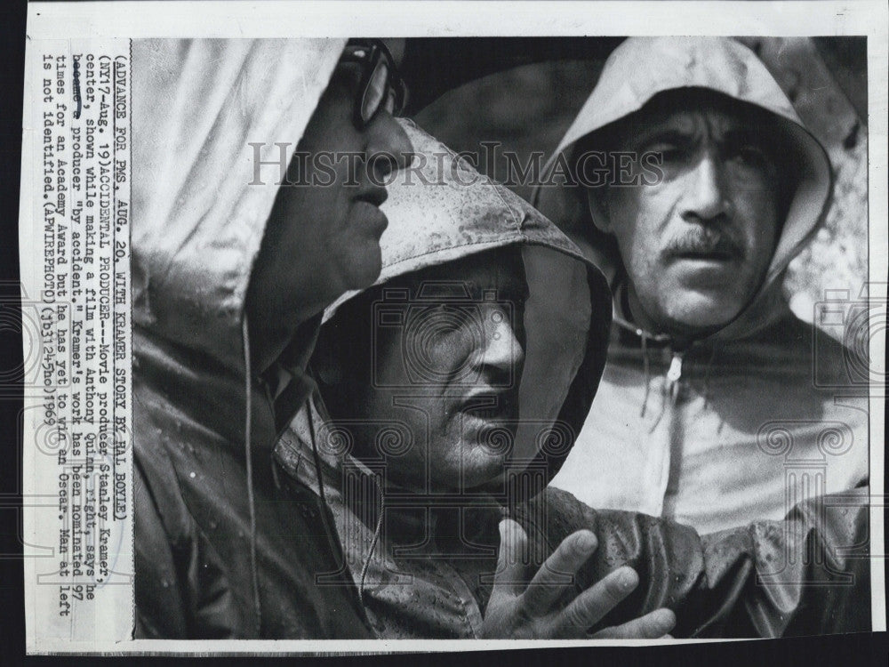 1969 Press Photo Movie Producer Stanley Kramer Anthony Quinn Actor - Historic Images