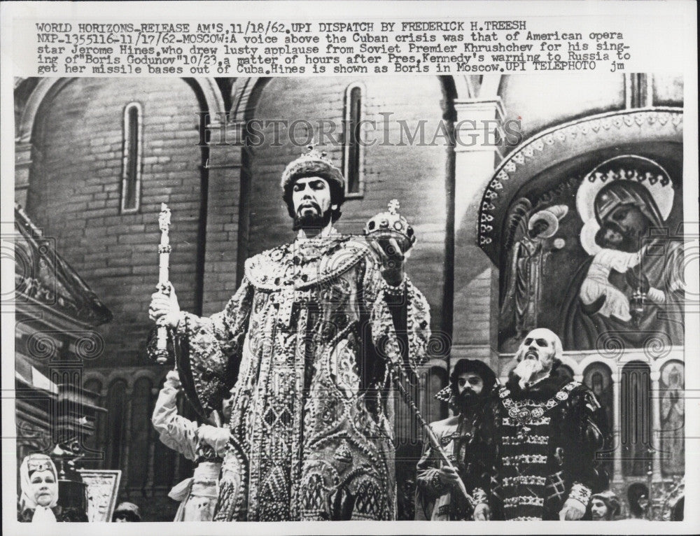 1962 Press Photo American opera star Jerome Hines - Historic Images