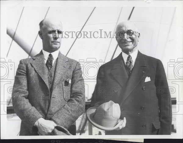 1930 Press Photo Captain Donald McMillan and Edward Martin - Historic Images