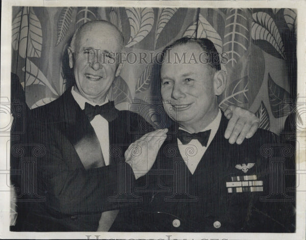 1949 Press Photo Commander Donald MacMillan & Cmdr. L. W. Parrish - Historic Images