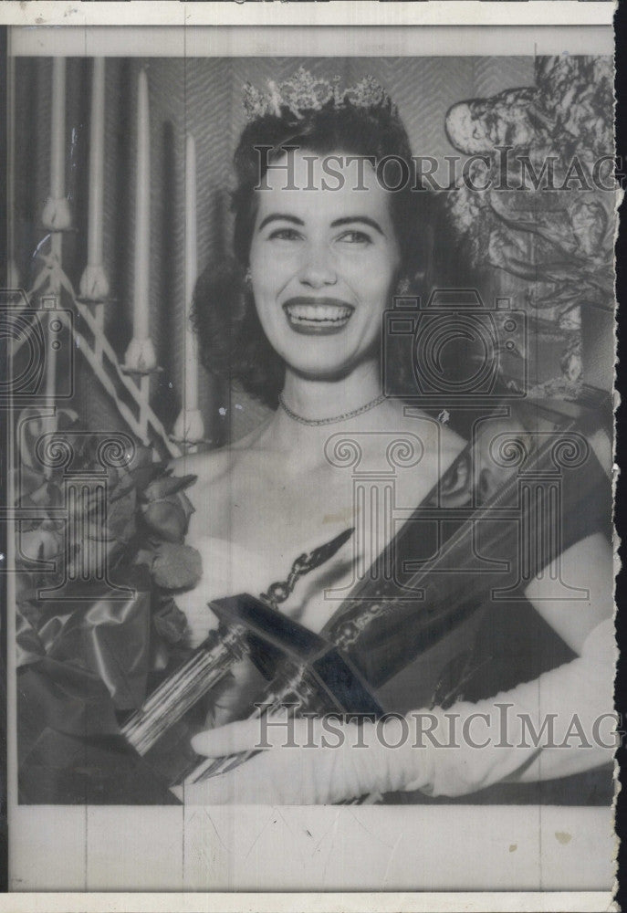 1958 Press Photo Mary Nell Hendricks, Miss Texas 1958 - Historic Images
