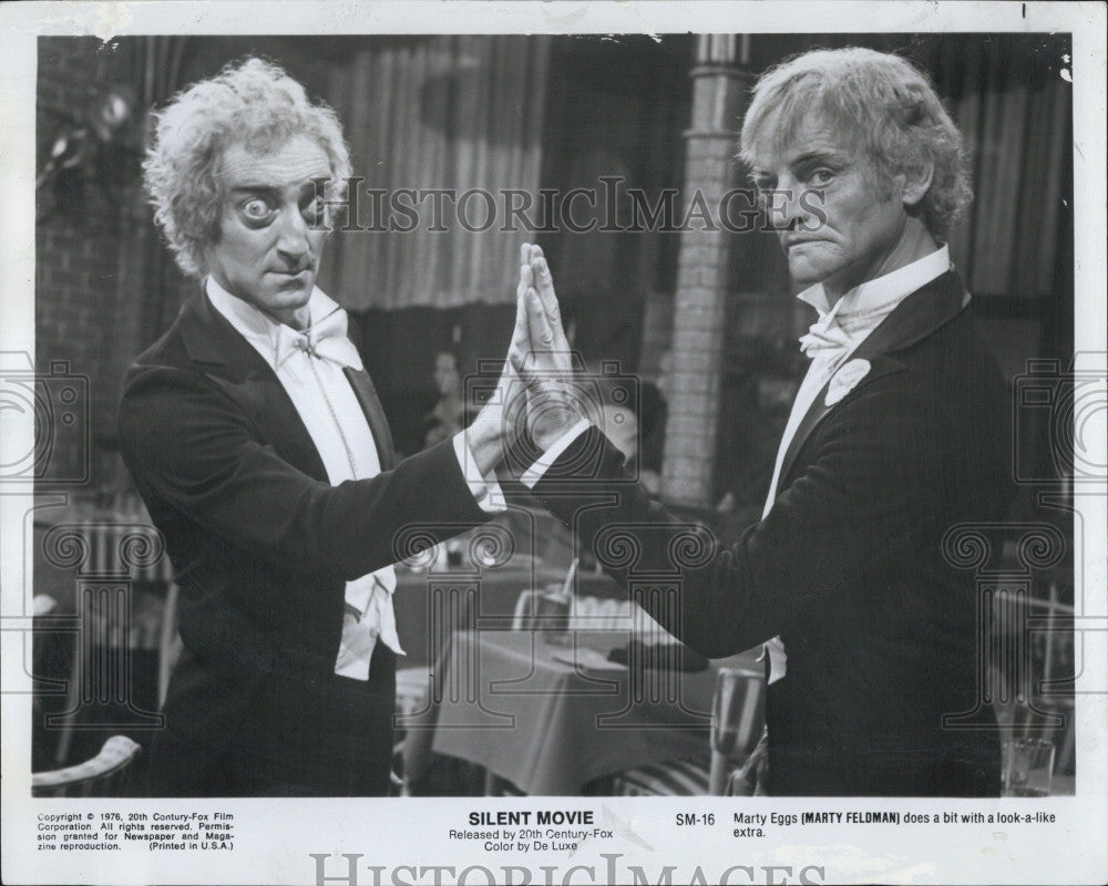 Marty Feldman With A Look A Like In Silent Movie 1976 Vintage
