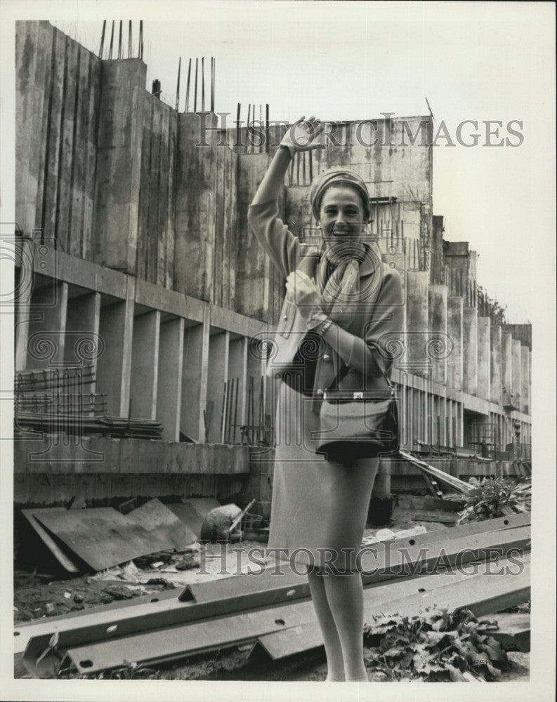 1967 Press Photo Blanche Thebom at the Atlanta Memorial Cultural Center - Historic Images