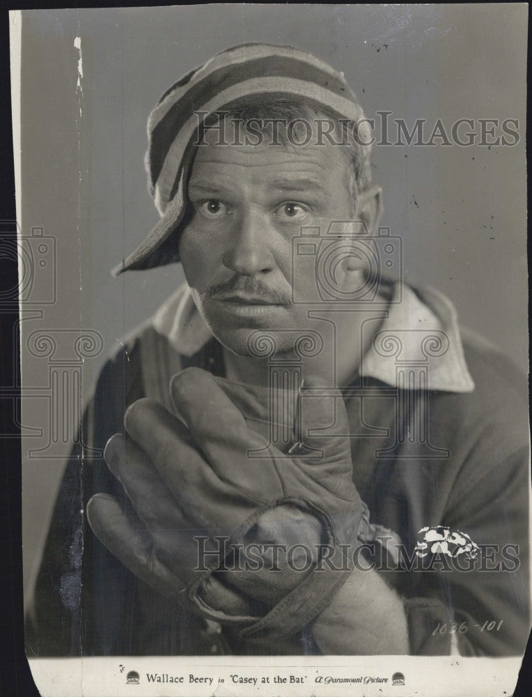"1927 Press Photo Wallace Beery in ""Casey At The Bat"" - Historic Images"