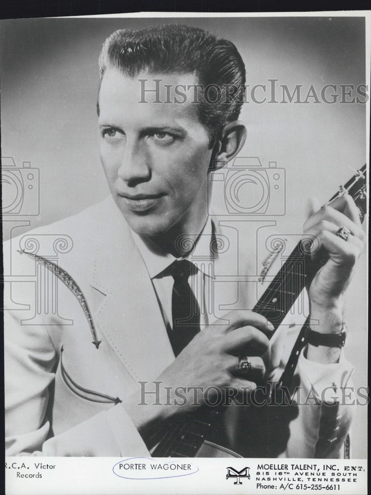 1965 Press Photo Country music singer Porter Wagoner - Historic Images
