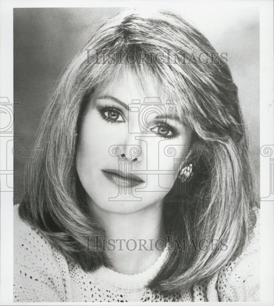 "Press Photo Ex Miss AMerica Debra Maffett hosts""TNN Country News"" - Historic Images"