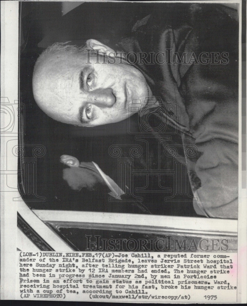 1975 Press Photo Joe Cahill leader of the IRA in Dublin - Historic Images