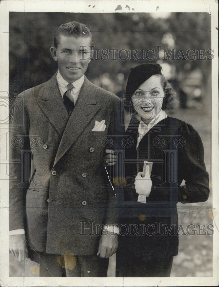 1933 Press Photo Adrienne Ames & Bruce Cabot - Historic Images