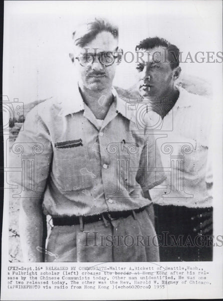 1955 Press Photo Walter A Rickett released by Chinese - Historic Images