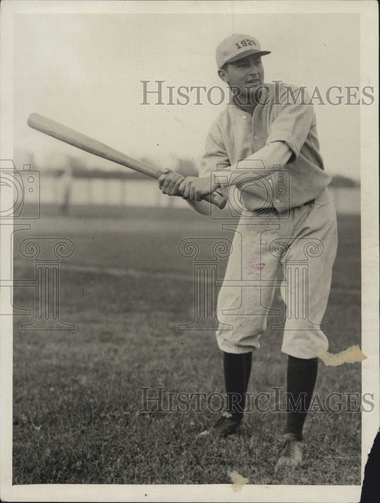 1925 Press Photo West Adams of Harvard baseball - Historic Images