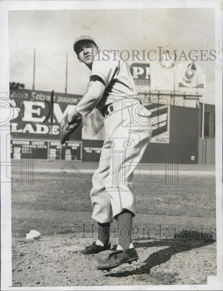 1946 Press Photo Athletics baseball, Russ Christopher - Historic Images
