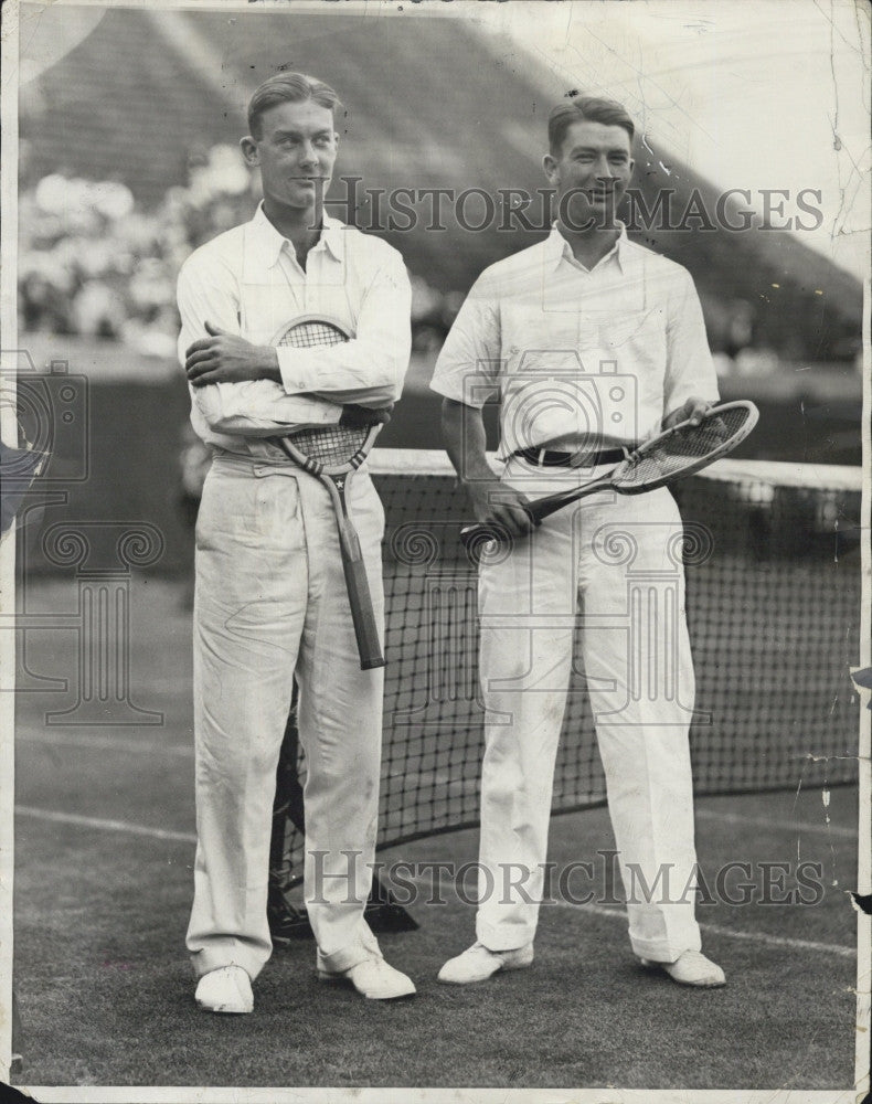 1928 Press Photo George M Lott & Van Rhyn at Davis Cip tennis - Historic Images