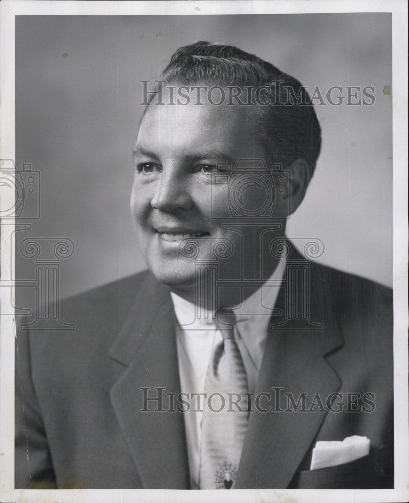 1958 Press Photo Du Mont Television Announcer Harry Wismer to Announce New York - Historic Images