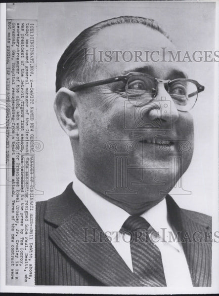 1960 Press Photo William 'Bill' DeWitt named general manger of Cincinnati Reds - Historic Images