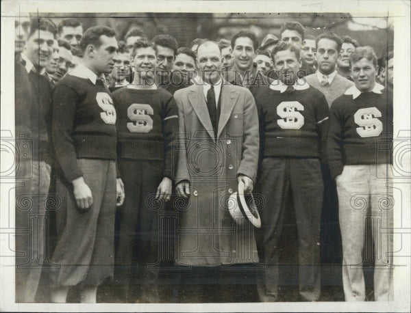 1934 Press Photo Hank Anderson Notre Dame College Football North Carolina - Historic Images