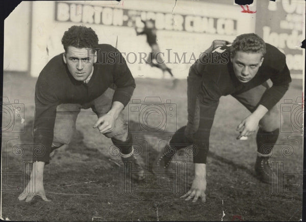 1931 Press Photo Bill Ohrenberger McGuirk Boston Eagles College Football - Historic Images
