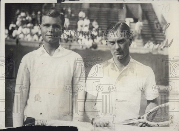 1931 Press Photo George Lott John Dueg Professional Tennis Player - Historic Images