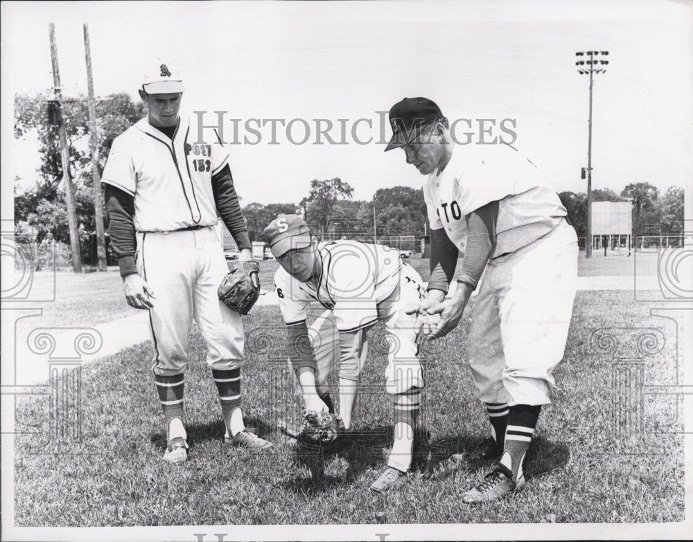 1984 Press Photo Al Morelli Medford Boston Red Sox George Ferguson Ed McFarland - Historic Images