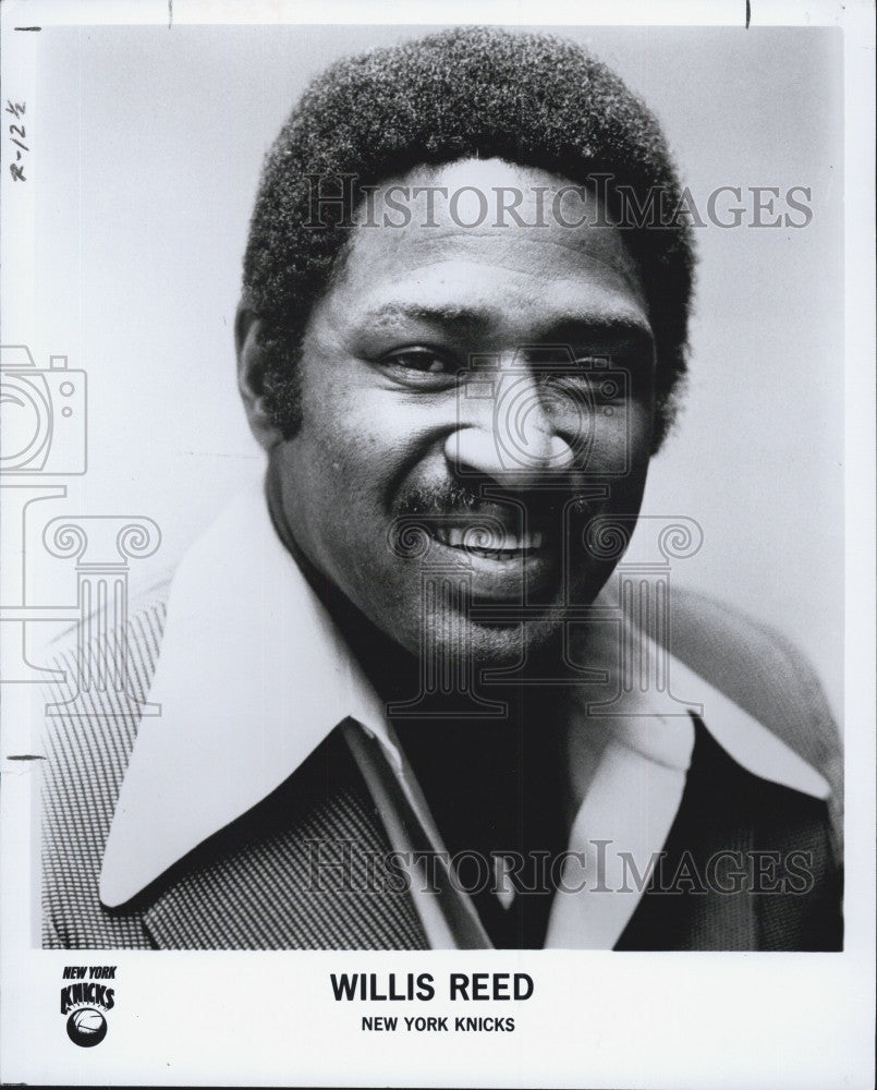 1977 Press Photo Willis Reed New York Knicks Basketball Player - Historic Images